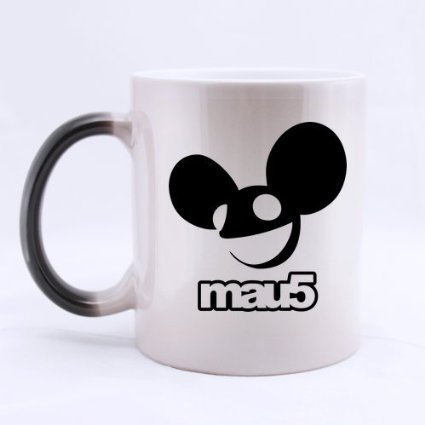 Deadmau5 DJ Mouse Head Logo Custom Morphing Coffee Mug Tea Cup 11 OZ Office Home Cup (Printed on two sides) (Deadmau5 Mouse Head compare prices)