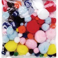 Pom Poms Assorted Big Value 100/Pkg - Everyday - 1
