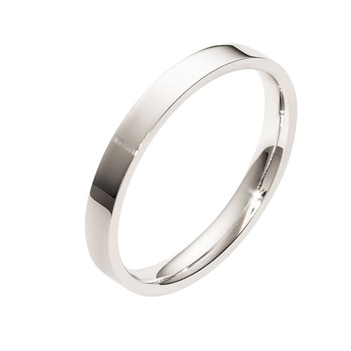Sterling Silver, Flat Comfort Fit 3MM Wedding Band (sz 5)