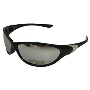 mirrored wraparound sunglasses