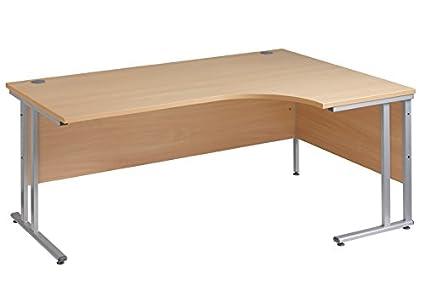 Ergonómico 1800 mm de roble escritorio de oficina de la mano derecha mesa de ordenador