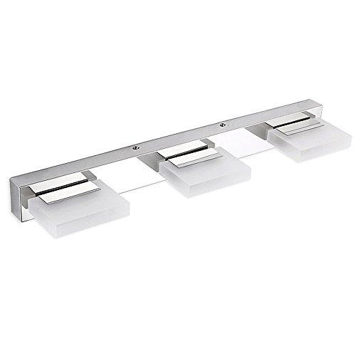Dailyart einstellbare Spiegelleuchten LED, 360° Drehbar, Kristall & Edelstahl