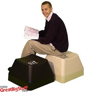 Giant Computer Key Seat - BEIGE