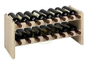 Cantinetta cantina portabottiglie modulare a 16 posti in - Portabottiglie in legno fai da te ...