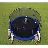 14' BouncePro Trampoline & Enclosure & Electron Shooter Game