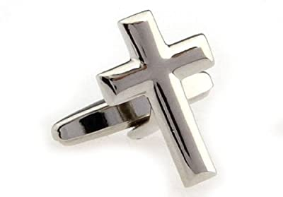 Cross Cufflinks with a Presentation Gift Box