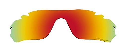 Polarized Lenses Replacement for Oakley RadarLock Edge Vented (OO9183) Sunglasses Fire Red Mirror Coatings (Radarlock Edge compare prices)