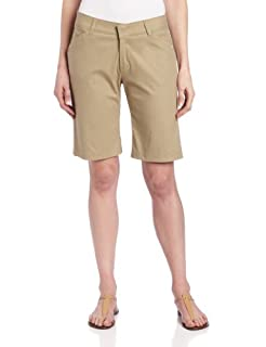 Dickies Women's 10 Inch Relaxed Stretch Twill Short, Khaki, 8