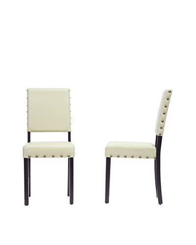 Baxton Studio Set of 2 Walter Dining Chairs, Cream