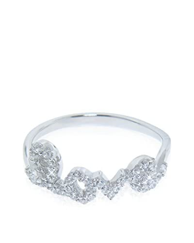 Diamonere Sterling Silver Pavé Love Ring