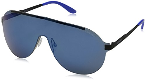 Carrera - Occhiali da Sole 92/S 1G, Unisex adulto, Lenti: Multilayer Blue, Montatura: Blk Blksemsh (FNB), 99