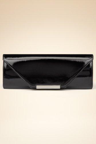 Patent Bar Clutch Bag