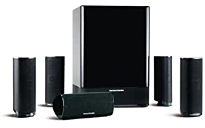 Harman Kardon HKTS-18 High-Performance, 6-Piece Home Theater Speaker System (Black Gloss) (Discontinued by Manufacturer)