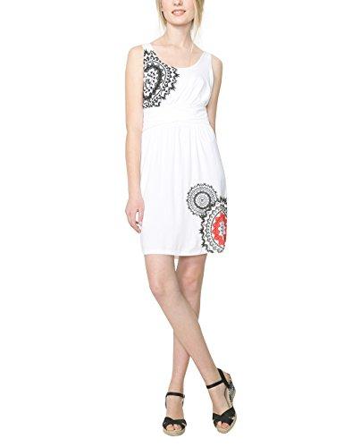 Desigual Damen A-Linie Kleid, mit Print Gr. 42, Weiß - Weiß (Blanco) thumbnail