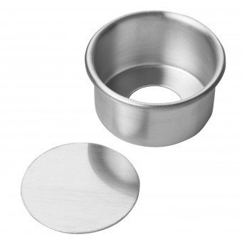 Focus Foodservice 90ACC82 8 in. x 2 in. h aluminum cheesecake pan with removable bottom - Case of 12