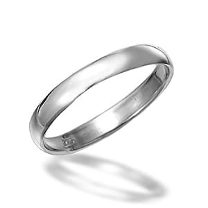Bling Jewelry Unisex 3mm Sterling Silver Wedding Band Ring Toe Ring Thumb Ring