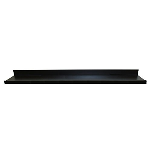 InPlace Shelving 9084684 Picture Ledge Floating Shelf, 72-Inch Long, Black