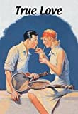 30 x 20 Stretched Canvas Poster True Love: Sharing a Milkshake After Tennis