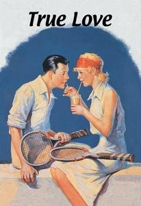 12 X 18 Stretched Canvas Poster True Love: Sharing a Milkshake After Tennis