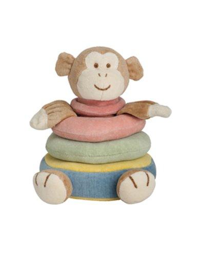 Miyim Simply Organic 3 Ring Monkey Stacker Plush Toy, 0-3 Months
