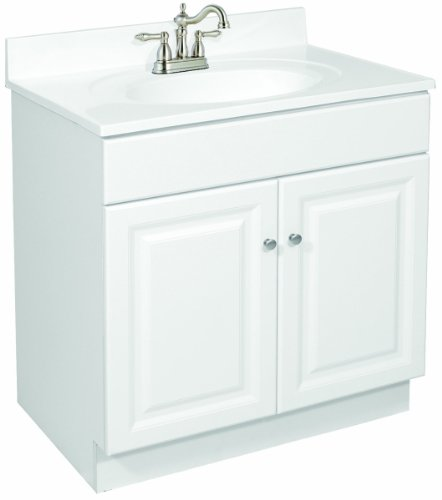 Design House 531749 Wyndham Ready-To-Assemble 2 Door Vanity, White, 30-Inch by 18-Inch