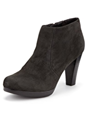 Footglove™ Suede Water Repellent Platform Ankle Boots