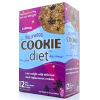 Hollywood Miracle Products, Hollywood Diet Meal Replacement Cookie, Oatmeal Raisin 12 Cookies/16.9 Oz Net Weight (box)