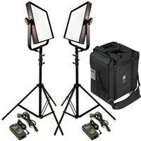 Litepanels Traveler Duo Package - contains: (1) 1X1 MONO Flood Daylight; (1) 1X1 MONO Spot Daylight; (2) Nano Stand; (1) 2-Lite Carrying Case