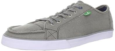 Sanuk Men's Anthem Waxed Sneaker,Grey,14 M US