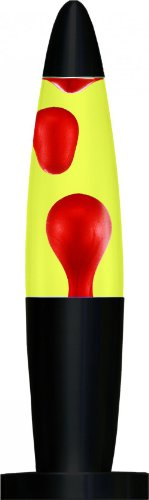 Creative Motion Black Base Liquid Peace Motion Lamp, 16-Inch, Red Wax/Yellow (Red And Black Lamps compare prices)