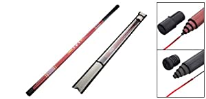 Como 6 Sections Travel Plastic Telescopic Fishing Rod Pole 2.6M by Como