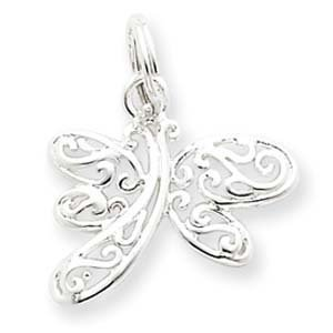 PriceRock Sterling Silver Dragonfly Charm