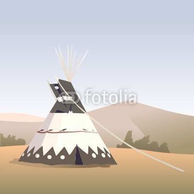 "Wallmonkeys Peel and Stick Wall Decals - Tepee Autumn - 36""H x 36""W Removable Graphic"