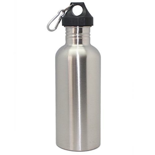 1000Ml 304 Stainless Steel Wide Mouth Screw Cap Cycling Sports Drinking Water Bottle
