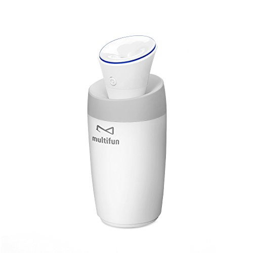 Multifun Cool Mist Humidifier Ultrasonic Humidifier USB Portable Mini Humidifier Multi Use for Travel Office Desk Desktop Car Small Bedroom with Water Bottle (Usb Mini Humidifier compare prices)