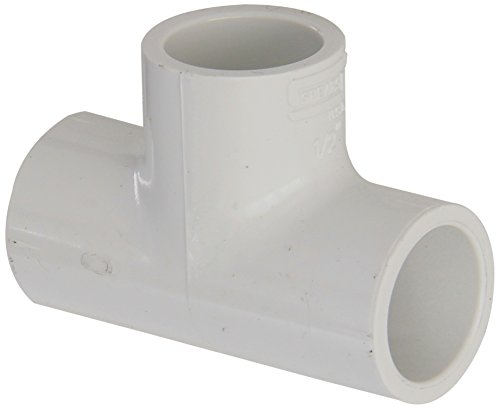 "Spears 401 Series Pvc Pipe Fitting, Tee, Schedule 40, White, 1/2"" Socket"