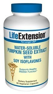 Life Extension Water-Soluble Pumpkin Seed Extract with Soy Isoflavones | 60 vegetarian capsules ( Multi-Pack)