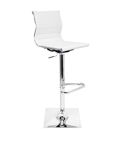 LumiSource Master Bar Stool, White