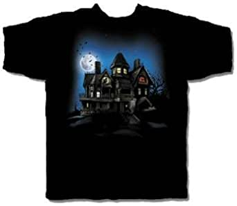 Evil Haunted House Halloween T-Shirt Size X-Large