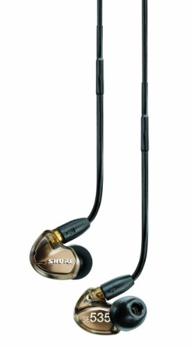 Shure Se535-V Triple High-Definition Microdriver Earphone With Detachable Cable - Metallic Bronze