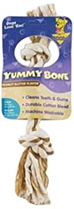 Aspen Pet Large 2 Knot Yummy Rope Bone, Peanut Butter Flavored
