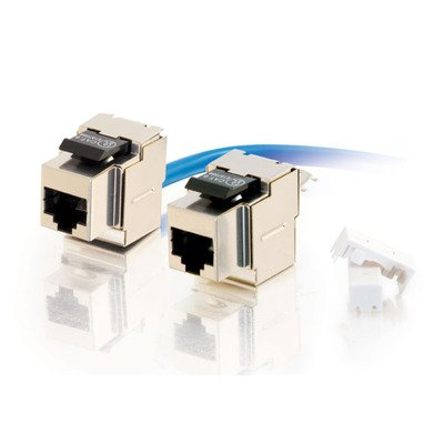 Cables to Go 35223 Cat5e 90º Keystone Jacks-Fully Shielded