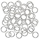 8mm Open Jump Rings - Silver Plated (100)