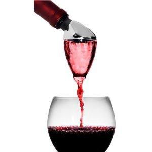 Metrokane Rabbit Wine Aerating Pourer with Bonus 2 Piece Stopper Set