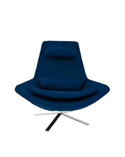 Kardiel Retropolitan Modern Lounge Wing Chair, Sapphire