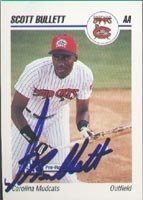 Scott Bullett Carolina Mudcats - Pirates Affiliate 1992 Skybox Pre-Rookie Autographed... by Hall of Fame Memorabilia