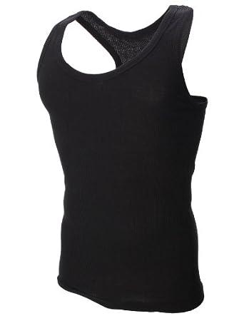 FLATSEVEN Mens Plain Tank Top Shirts (TT100) Black