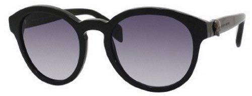 Alexander McQueenA. McQueen 4196/S Sunglasses-0807 Black (JJ Gray Gradient Lens)-52mm