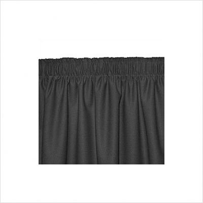 Big Chiller Table Polyester Knit Shirred Table Skirt Color: Black