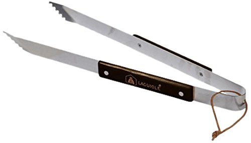Laguiole 5PIC024LG Pince Barbecue avec Manche Bois Inox 40 cm